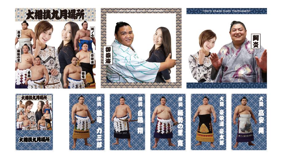 相撲ファンに大人気の御嶽海・阿炎と記念撮影!SnSnap、日本相撲協会のSNS施策を展開