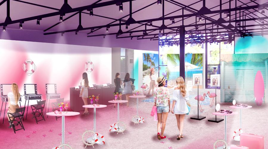 富士フイルムの化粧品シリーズ「ASTALIFT flarosso」が開催する体験イベント「flarosso Island」を企画・制作プロデュース